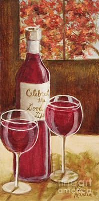 Painting - Celebrate The Good Times With Oil And Gold Leaf By Vic Mastis by Vic  Mastis