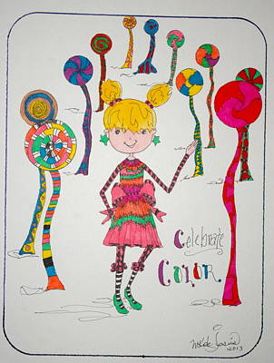 Drawing - Celebrating Color by Mary Kay De Jesus