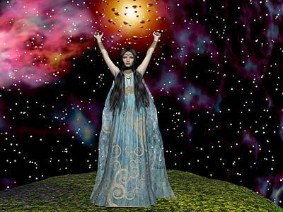 Digital Art - Celebrating The Stars by Michele Wilson