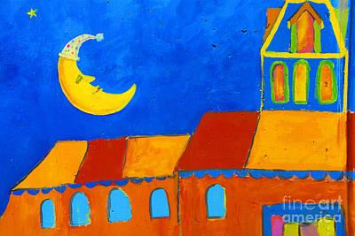 Celebration Hoboken #5-sleeping Moon Original by Regina Geoghan
