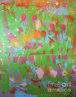 Painting - Celebration In Green by Theresa Kennedy DuPay