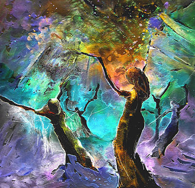 Celebration Of Life Print by Miki De Goodaboom