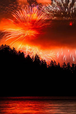Celebration Of Light Canada From West Vancouver Art Print by Pierre Leclerc Photography