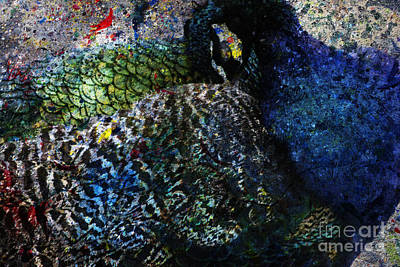 Pheasant Digital Art - Celebration Of The Peacock #2 by Nola Lee Kelsey