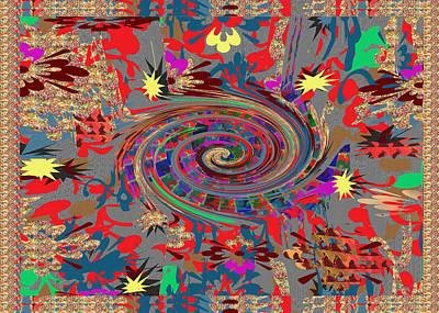 Mixed Media - Celebrations Happy Energy Spiral by Navin Joshi