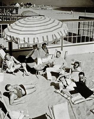 Society Photograph - Celebrities On A Beach by Edward Steichen
