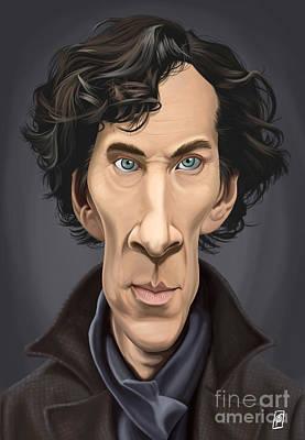 Digital Art - Celebrity Sunday - Benedict Cumberbatch by Rob Snow