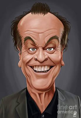 Digital Art - Celebrity Sunday - Jack Nicholson by Rob Snow