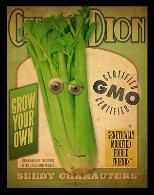 Digital Art - Celery Dion Seed Pack by Tim Nyberg