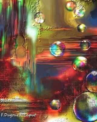 Abstract Digital Painting - Celeste by Francoise Dugourd-Caput