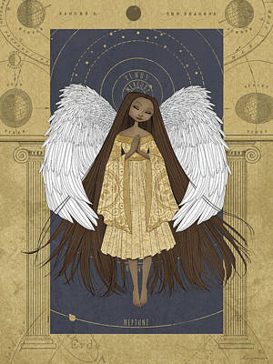 Heavenly Body Digital Art - Celestial Angel by Karyn Lewis Bonfiglio