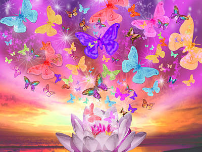 Alixandra Mullins Photograph - Celestial Butterfly by Alixandra Mullins