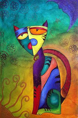 Celestial Painting - Celestial Cat by Laura Barbosa
