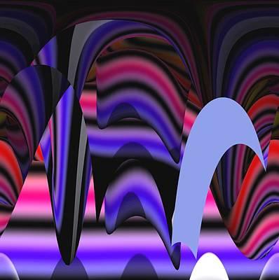 Celestial Cave Digital Art Print by Georgeta  Blanaru