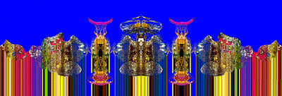Keith Richards - Celestial City Brilliant Blue 2 by William Durfey
