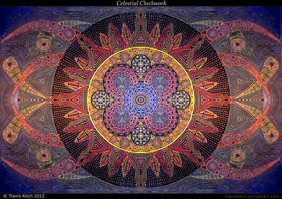 Celestial Clockwork Art Print by Travis Hunt