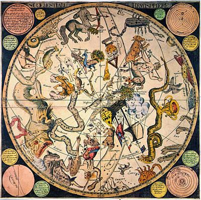 Photograph - Celestial Hemisphere, 1790 by Granger