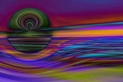 Sound Digital Art - Celestial Horizon 2 by Tom Druin