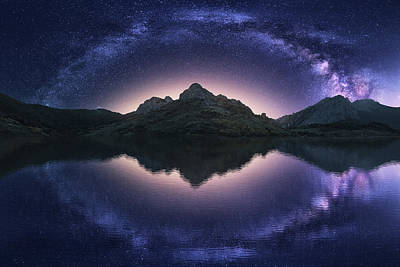 Milky Way Wall Art - Photograph - Celestial Illusion by Carlos F. Turienzo