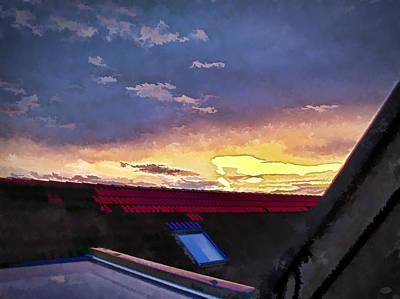 Hopscotch Digital Art - Celestial Lava by Nafets Nuarb