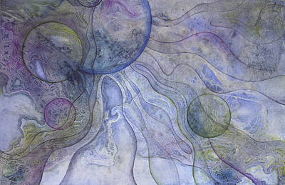Celestial Matrix Art Print by Ellen Starr