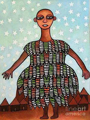 Contemporary Ethnic Artist Painting - Celestial Mother Nature by Ephrem Kouakou