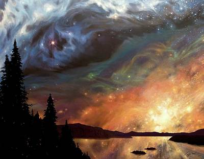 Celestial Northwest Art Print by Lucy West