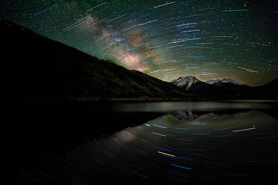 Celestial Rotation In The Colorado San Juans Art Print by Mike Berenson