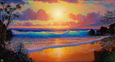 Celestial Shores Art Print by Loren Adams