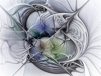 Sculptural Digital Art - Celestial Sphere Abstract Art by Karin Kuhlmann