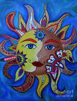 Painting - Celestial Sun And Moon by Pristine Cartera Turkus