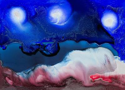 Painting - Celestial Swim by Priya Ghose