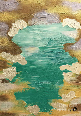 Painting - Celestial Waters Below by Theresa Kennedy DuPay