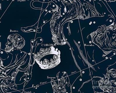 Celetial Antique Map Art Print by Baltzgar