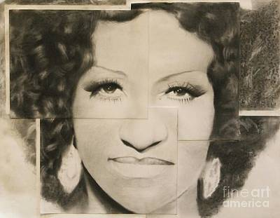 Drawing - Celia Cruz by Adrian Pickett