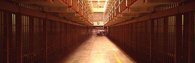 Punishment Photograph - Cell Block In A Prison, Alcatraz by Panoramic Images