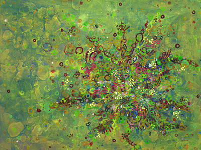Organisms Painting - Cell No.4 by Angela Canada-Hopkins