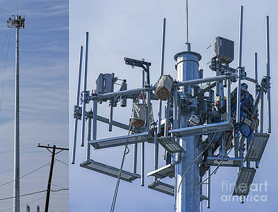 Photograph - Cell Tower Workers by D Wallace