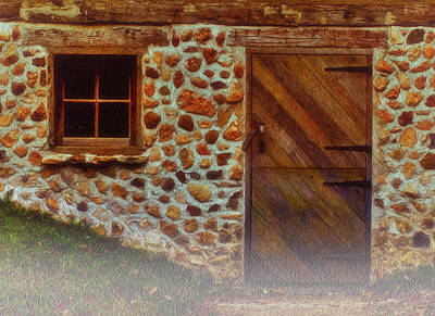 Rural Scenes Digital Art - Cellar Door In The Mist by Jack Zulli
