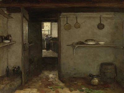 Cellar Of The Artist's Home In The Hague Print by Litz Collection