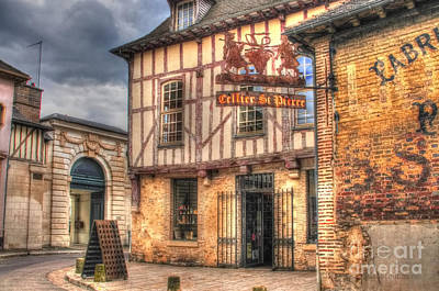 Photograph - Cellier St. Pierre Troyes France by Malu Couttolenc