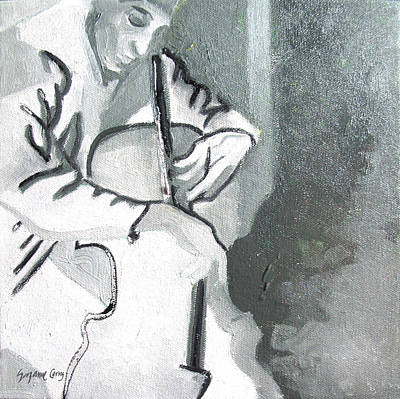 Painting - Cellist by Suzanne Cerny