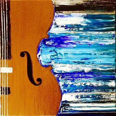 Painting - Cello by Izabela Bienko