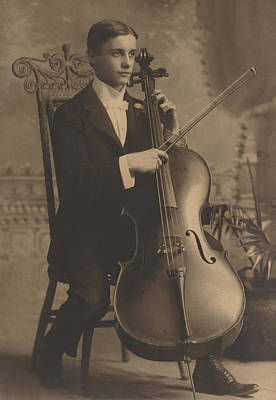 Photograph - Cello Recital 1890s by Paul Ashby Antique Image
