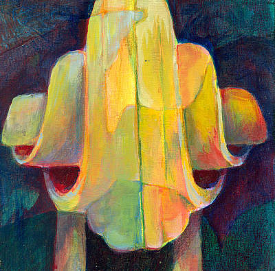 Cello Scroll Original by Susanne Clark