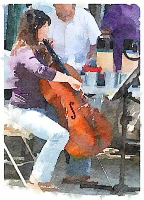 Digital Art - Cello by Shannon Grissom