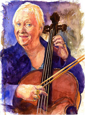 Painting - Cello Teacher by John D Benson