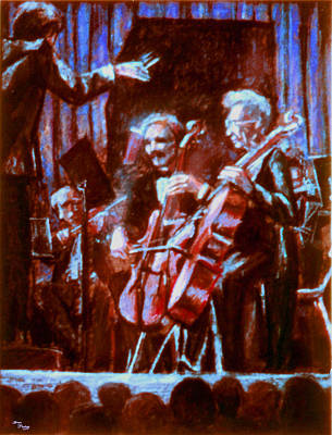 Cello_concerto_sketch Art Print by Dan Terry