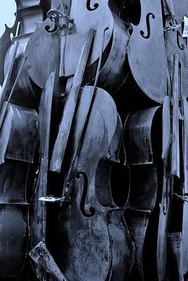 Cellos 6 Cyan Art Print