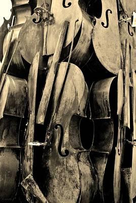 Cellos 6 Sepia Art Print